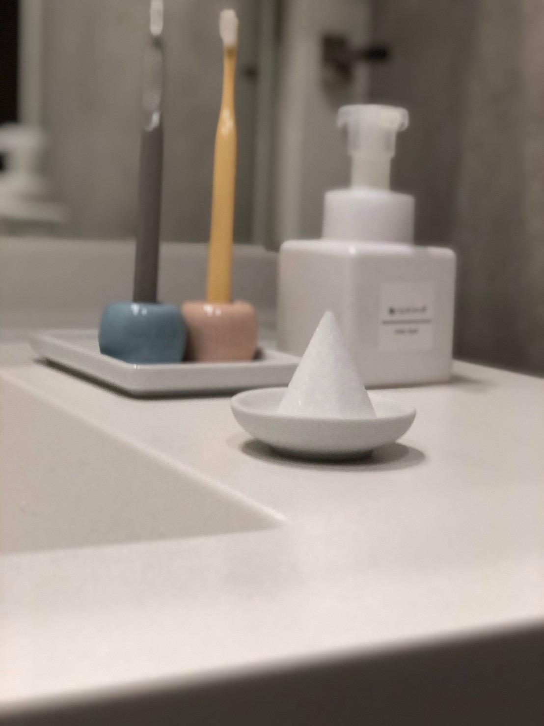 洗面所への盛り塩