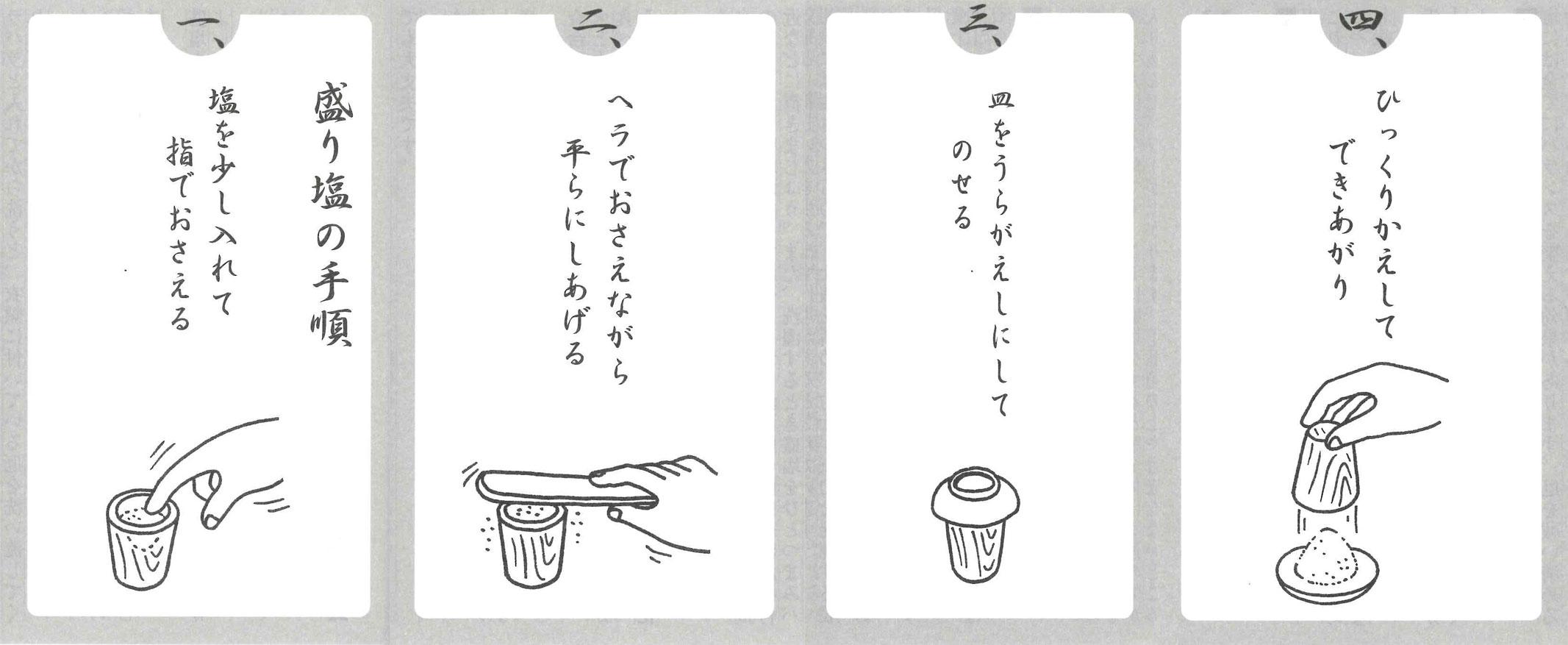 盛り塩の作り方 説明書